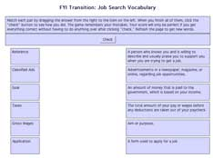 job vocabulary match